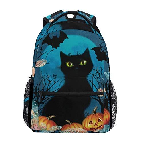 Rucksäcke Spooky Black Cat Jungen Daypack Girls Lightweight Rucksack Schule Bookbag College Gemütliche Mode Print Schule Geburtstagsgeschenk Student Durable Travel Casual Travel