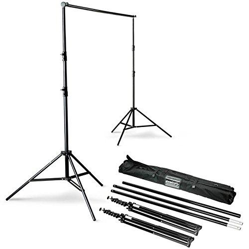 Westcott Komplett-Set zum Aufbau eines Hintergrundsystems 2 Stative mit Hintergrundstange Maximalhöhe 2,83 m