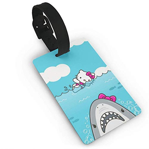 Hello Kitty Shark Luggage Tags Suitcase Carry-Onid Travel Id Baggage Tag