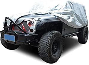 AL4X4 Outdoor Car Cover Custom All Weather Prevention Car Cover for Jeep Wrangler CJ,YJ TJ /& JK 4 Door 2007-2017