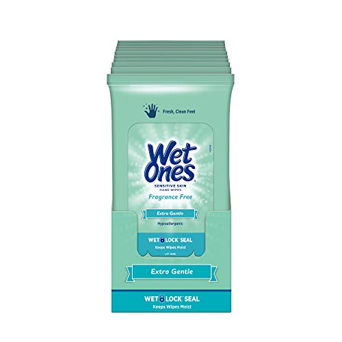 Wet Ones Sensitive Skin Hand Wipes, 20 Count (Pack Of 10) Illinois