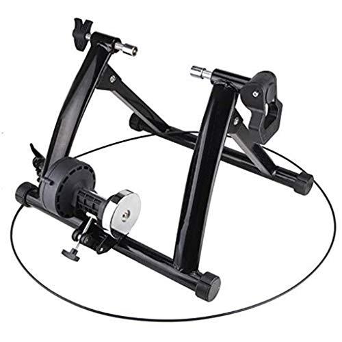 YYDE Vélo Formateur Stand intérieur Vélo Trainer 'entraînement 6 Vitesses résistance magnétique vélo Road Trainer VTT Vélo Formateurs à vélo Rouleau,Noir