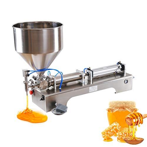 Riempitrice liquida, Riempitrice pneumatica orizzontale semiautomatica per pasta, Riempitrice liquida monotesta, Riempitrice quantitativa per pasta liquida per bucato