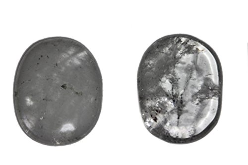 Scheibenstein Bergkristall Naturgeister®-Massagestein