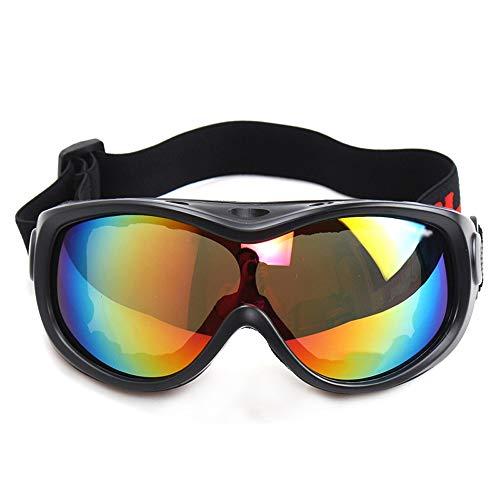 Skibrille - Schneebrille, über welches die Gläser Snowboardbrillen Anti-Fog Shatterproof Staubdichtes 100% UV-Schutz for Kinder Ski (6-13 Jahre) (Color : Black)