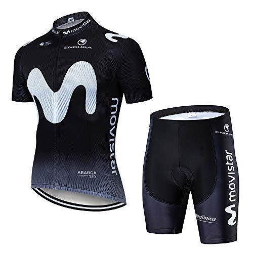 CHHBS Maillot Ciclismo Verano para Hombre, Rop Conjunto Traje Culotte Deportivo con 5D Almohadilla De Gel para Bicicleta MTB Ciclista Traje de Ciclismo