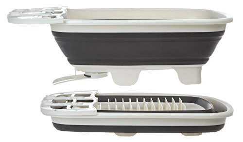 Prep Solutions by Progressive Swivel Spout Collapsible Dish Drainer Large Dish Tub, Pop Up Portable Dish Tub, Washing Basin