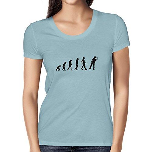 Texlab Dart Evolution - Damen T-Shirt, Größe XL, hellblau
