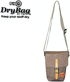 FIB Water Resistant Small Shoulder Canvas Bag w Adjustable Shoulder Strap - Sand