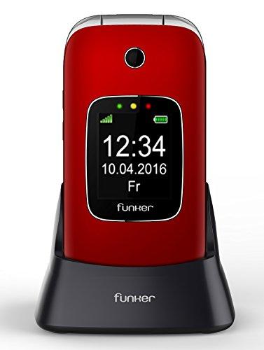 Funker C85 - Teléfono Móvil Easy Comfort Rojo Tapa