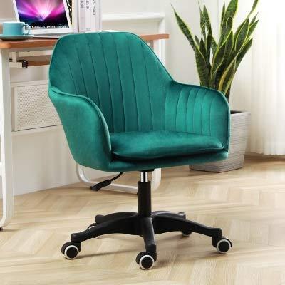 LIUDINGDING Chaise Informatique des ménages Creative Chaise de Bureau en Tissu Chaise de Bureau Peut soulever Chaise pivotante Siège étudiant Chambre (Color : Green)