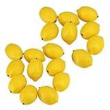 Poualss 20 STÜCKE Künstliche Zitronen Gefälschte Zitronen Simulation Gelbe Zitrone