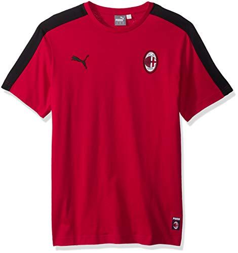 PUMA Men's Standard Ac Milan T7 Tee, Tango red/Black, XL