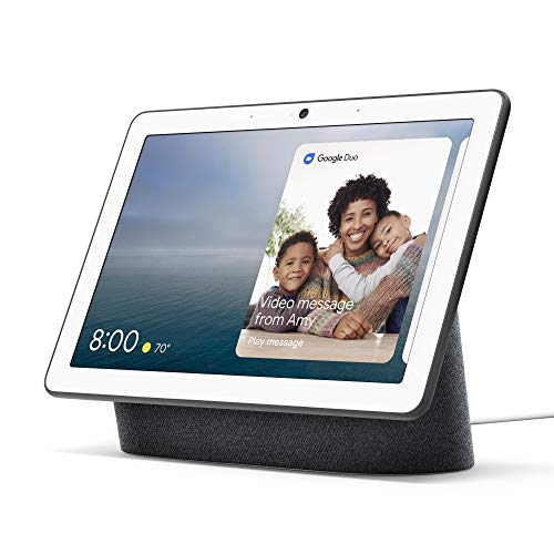 Google Nest Hub Max Smart Home Hub Digital Photo Frame with Google Assistant, Play Videos, Stream Music, Make Video Calls and Connect to Other Nest Devices - Charcoal