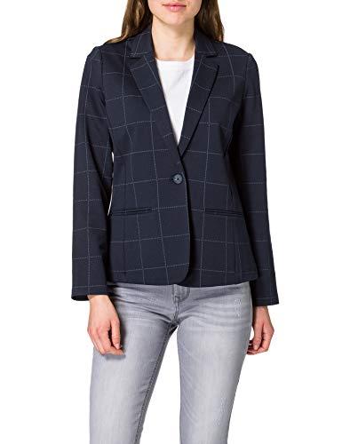 Tom Tailor 1024095 Check Blazer, 25961 Navy Gridcheck, M para Mujer