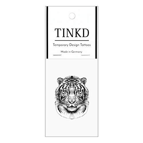 TINKD Klebe-Tattoo Tiger | Tiger-Tattoo | Tattoo mit Tiger-Kopf | Made in Germany