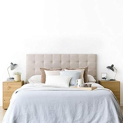 Bonito Diseño: cabecero cama 150 con dibujos en forma de cuadrados que le da un toque elegante a tu dormitorio Gran Calidad: tapizado de alta calidad. *Producto fabricado en España. Uso/ Tamaño: para cama de 150: 160x120x6 cm(AnchoxAltoxFondo) Fácil ...