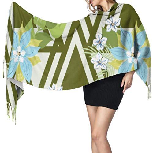 Yushg Magnífica moda creativa línea de arte bufanda chal bufandas bufanda barata y ligera 77x27 pulgadas / 196x68 cm grande suave pashmina extra caliente
