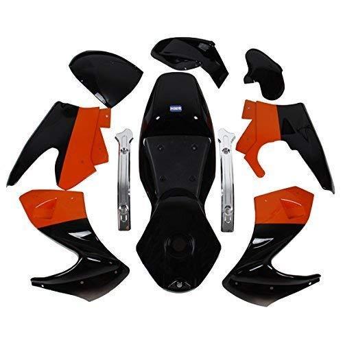 HMParts Pocket Bike Verkleidung Set komplett schwarz/orange