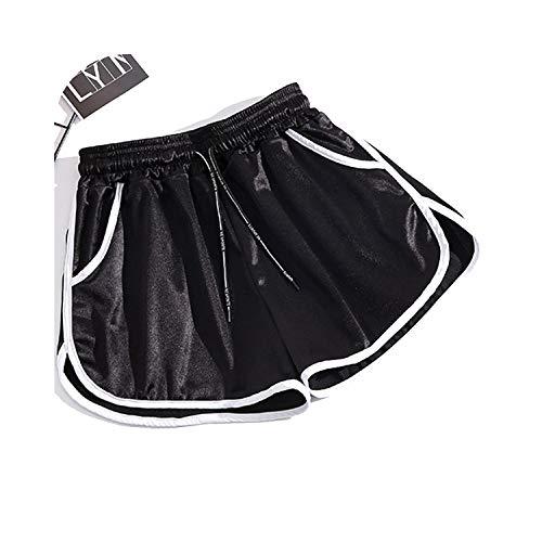 Shop1994 Women Sexy Short Elastic Waist Loose Shorts Casual Run Gym Sports Summer Feminino Plus Size-BK-XL