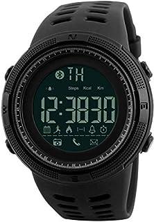 سكيمي ساعة رياضية مطاطي متوافق مع نظام اندوريد و اي او اس اسود ضد الماء -الموديل 1250
