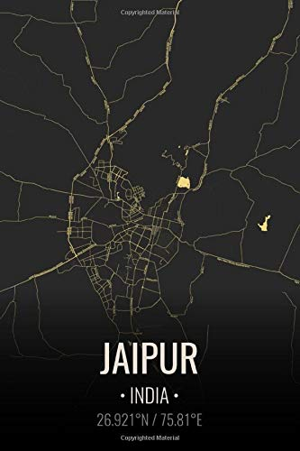 Jaipur India: City Map Notebook for Travelers Notebook for Travelers   Vacation Journals   Lined Notebook Journal 6x9 Inches   100 Pages