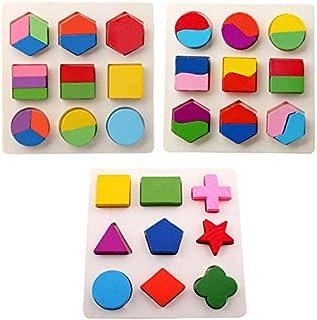 لعبة الاشكال التعليمية للاطفال متعددة القطع ، متعددة الالوان