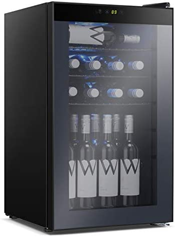 Antarctic Star Beverage Refrigerator Cooler 100 Can Mini Fridge Glass Door for Soda Beer or product image