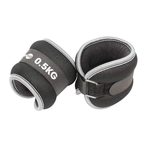 Fitness Mad Wrist/Ankle Weights, Neo Cinturino da Polso/Caviglia Unisex-Adult, Grey, 2 x 0,5 kg
