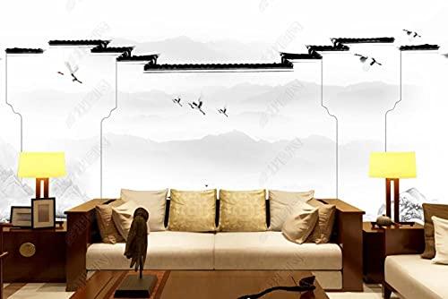 Fondo De Pantalla Tinta Jiangnan Caballo Cabeza Pared Emblema Arquitectura Fondo De Pared Decoración De La Pared Pintura-400 * 280Cm