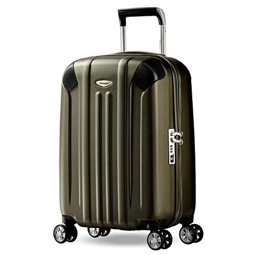 Eminent Bagaglio a mano Boulder 55cm 40L Valigia cabina ultra leggera 4 Ruote doppie silenziose Protezione addizionale dei bordi & Lucchetto TSA Marrone