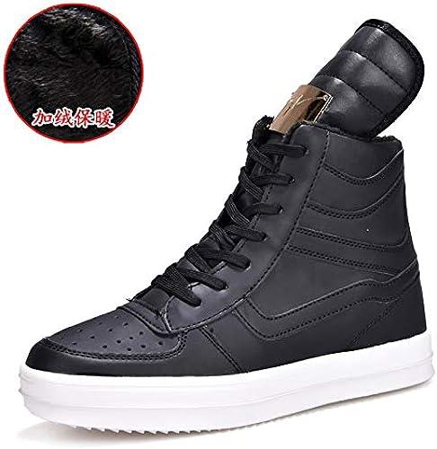 LOVDRAM Bottes Homme Chaussures d'hiver pour Hommes - Chaussures pour Hommes - Mode Haute pour Aider Les Petites Chaussures Blanches - Hommes 37 Grande Taille pour Hommes