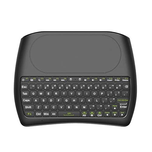 JINKEBIN Tastiera Tastiera da 2,4 GHz TOUCHPAD TOUCHPAD TOUCHPAD TOUCHPAD Telecomando con retroilluminazione a LED colorato per la Scatola TV Android Smart TV PC taccuino per Notebook