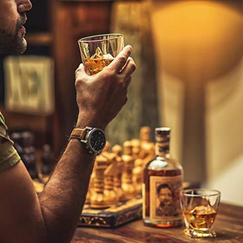Amerigo Premium Whisky Gläser 4-teiliges Set Geschenkbox - Twist Whisky Gläser für Scotch, Bourbon & altmodische Cocktails (340ml) - Whisky-Geschenk für Männer - Vatertagsgeschenk - Bar-Set - 4