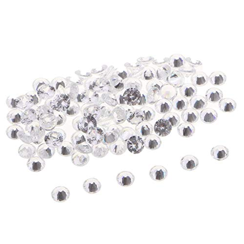 100pcs Bicone Faceted Crystal Beads Zircon, Jewelry Making Findings, Loose Spacer Beads 6mm for Card Making, Nail Art, Beading Crafts - White, 6mm,Colour:Black Bracelets Earrings Rings Necklaces