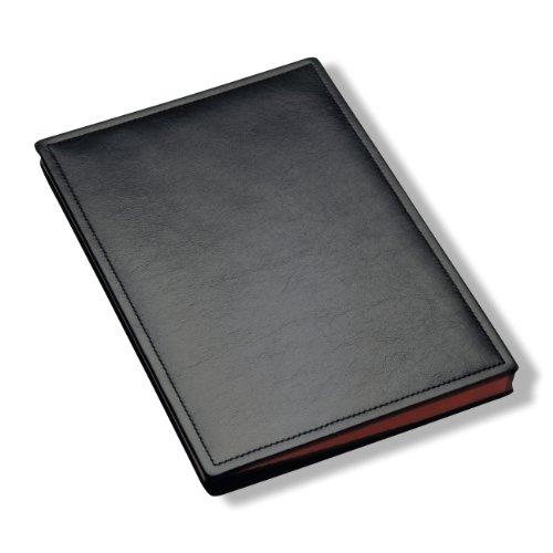Läufer 34846 Scala Unterschriftenmappe, naturgenarbtes Rindsleder, schwarz, Handgefertigt aus Echtleder in Deutschland, Chefmappe aus Leder