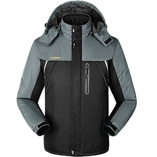 LoyFUN Combinaison de ski pour homme avec veste de ski de montagne imperméable coupe-vent et chaude pour les voyages, la randonnée, la course à pied, XXL