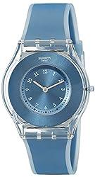 top 10 swatch dive watch Swatch Ladies Watch SFS103 Skin Analog Display Swiss Quartz Blue Watch