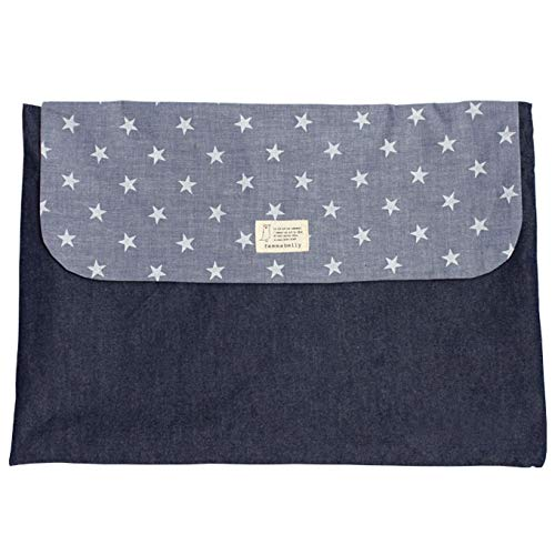 防災頭巾カバー小学生 幼児 背もたれ 座布団 日本製 男の子 女の子 防災グッズ (デニムスター) 刺繍