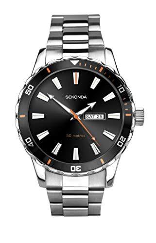 Sekonda Herren Analog Klassisch Quarz Uhr mit Edelstahl Armband 1373.27