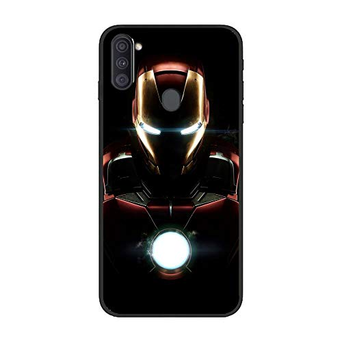 Black Case Matte Thin Flexible TPU Protective Cover for Samsung Galaxy A11-Deadpool-Ironman 4