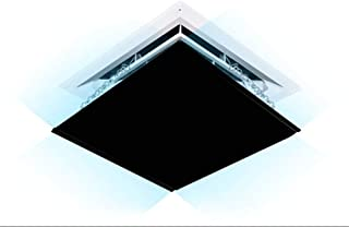 WAJI Central air Conditioning Windshield, Adjustable air Conditioning air Deflector air Duct Vent air Conditioner Cover Square (Black)-60cm