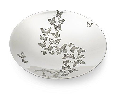 Wentworth Pewter - Bol rond en étain en forme de papillon - Diamètre : 205 mm/H : 40 mm