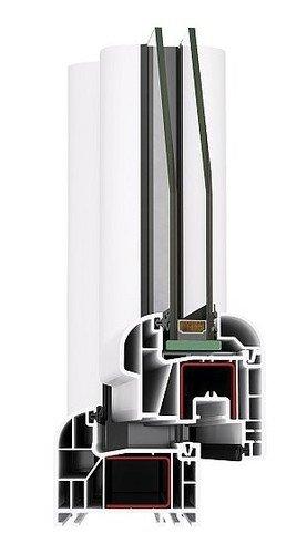 Kunststofffenster Avantgarde 7000 - Weiß - 5-Kammer Fenster - 1165 x 1135