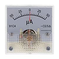 joyMerit アナログ電流計 設置アクセサリ付 50-0-50uA テスター 2.5精度