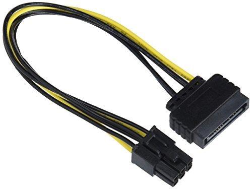 Delock 82924 PCI Express SATA-Kabel 15-Stecker auf 6-Stecker PCI-E, 20 cm