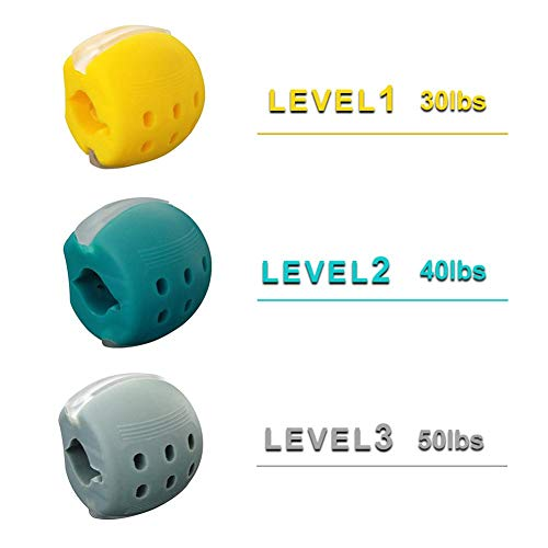 30/40/50 Lbs Jawline Trainer Jaw Exerciser, Jawzrsize Jaw, Face Und Neck Exerciser, Tragbarer Jawline Exerciser Face Toning Ball Zur Definition Ihrer Jawline