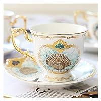 ジャングル動物ゴールドボーン中国ティーカップソーサーイギリス風セラミックコーヒーカップセットファッション磁器ティーカップ (Color : Style F)