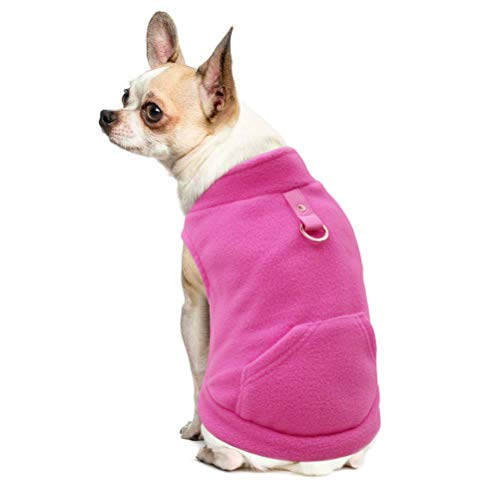 Fleece Autumn Winter Cold Weather Dog Vest Harness Clothes with Pocket for Small Dogs