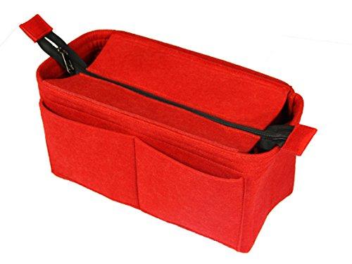 [Past op verschillende tassen, L.V Her.mes Long.champ Go.yard] Vilt Tote Organizer (w/Top Rits), portemonnee invoer, cosmetische make-up luier handtas, Belongings Pocket